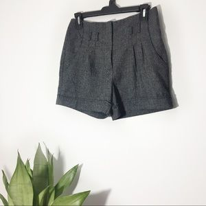 BCX | Pleated High Waisted Shorts Size 7